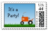 Matching tractor postage
