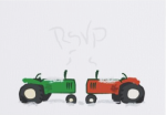 Tractor Winter Wedding RSVP Card