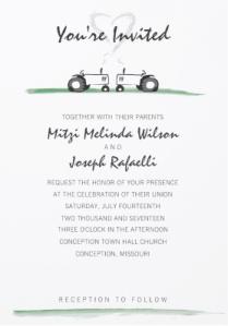 Classic Tractor Wedding Invitation