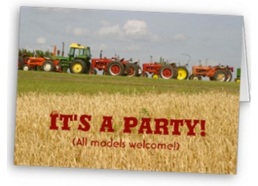 Tractors and Wheat Field Party Invitation